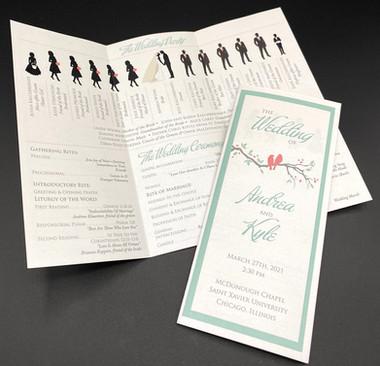 Trifold Silhouette Wedding Program