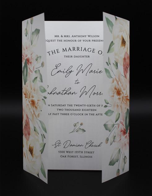 Vellum Floral Wrap Invitation