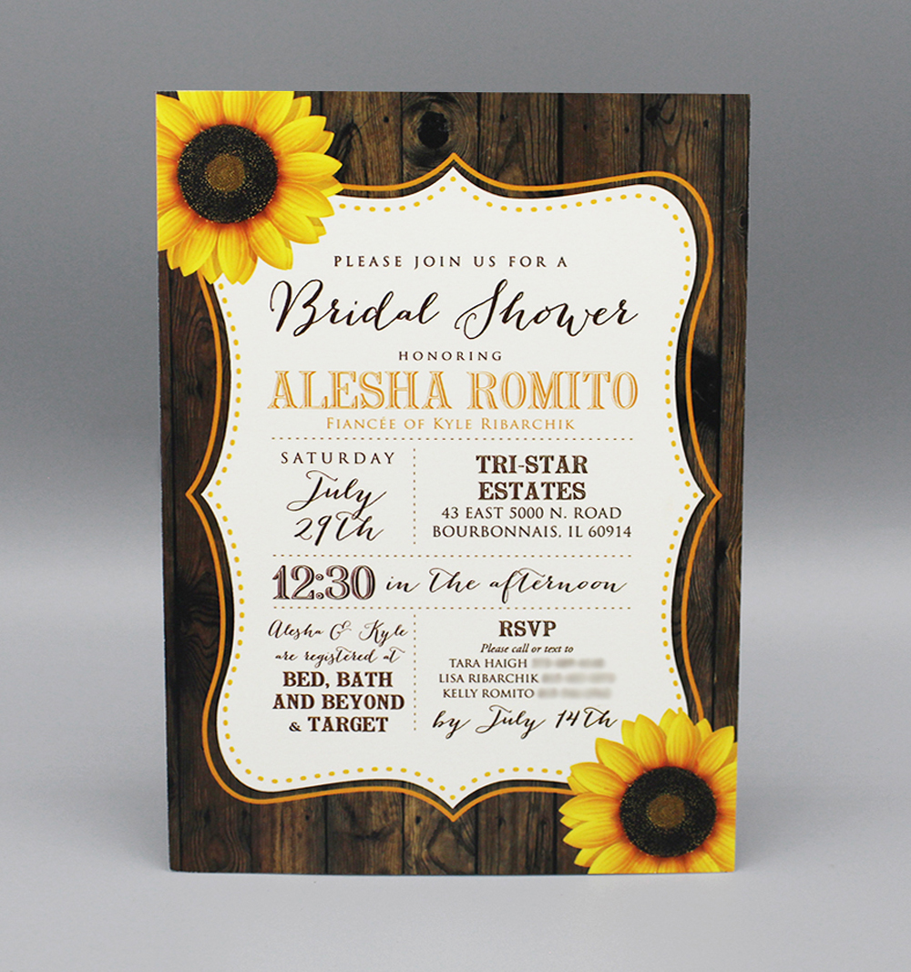 Sunflower and Wood Bridal Shower