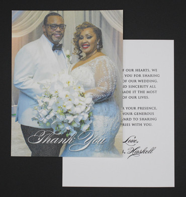 Single Photo Two Sided Thank You Card