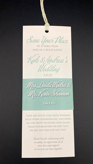 Bookmark Place Card
