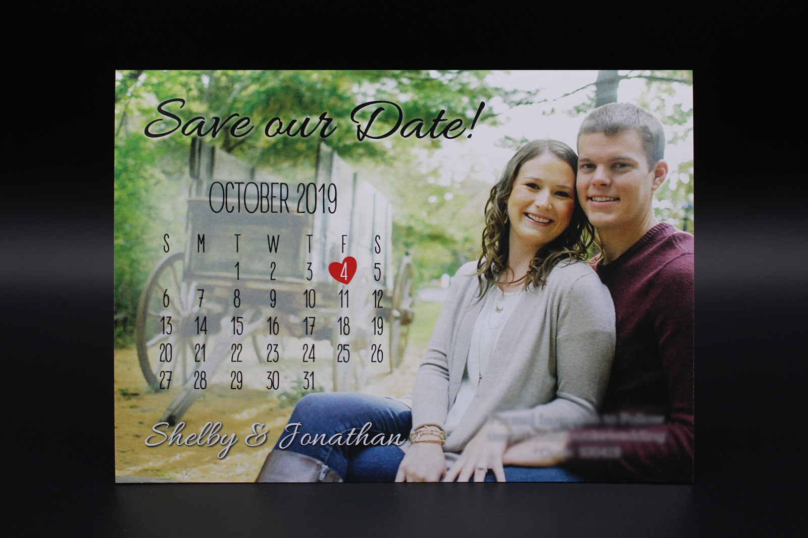 Photo and Calendar Save the Date