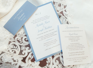 Simple Blue Belly Band Invitation