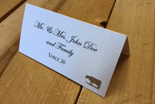Basic Place Card with Meal Choice