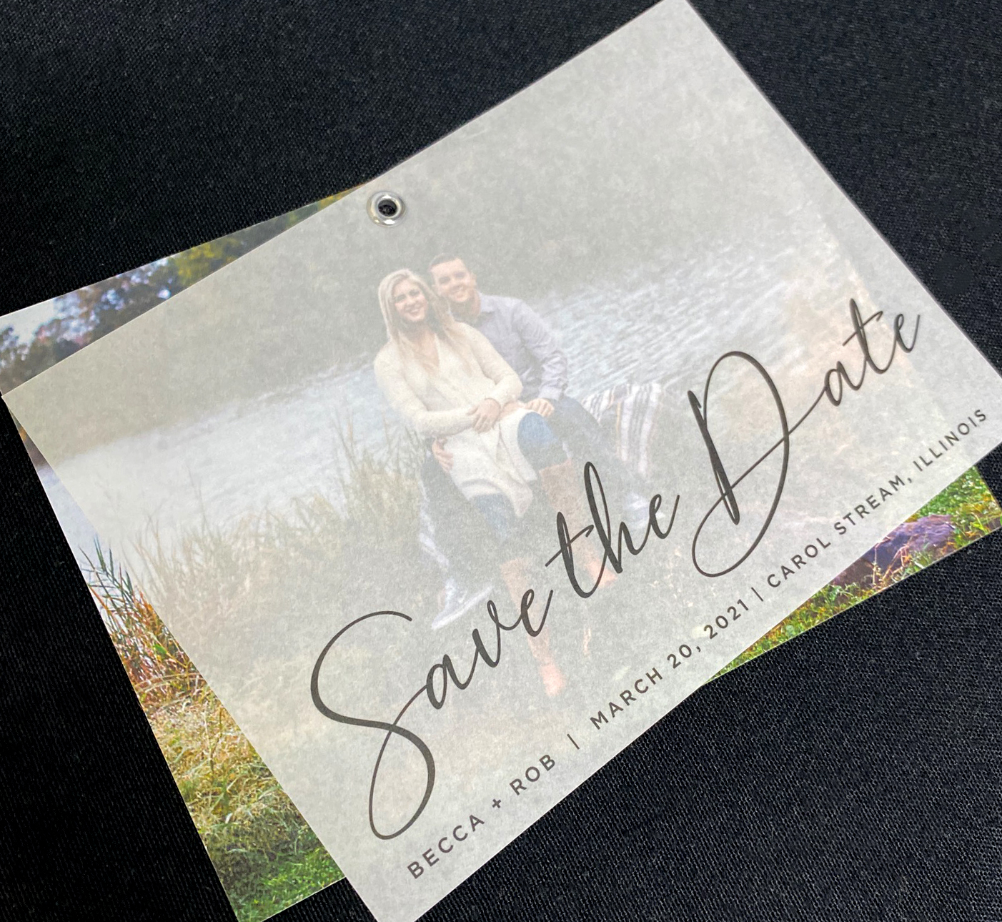 Vellum Layer Save the Date