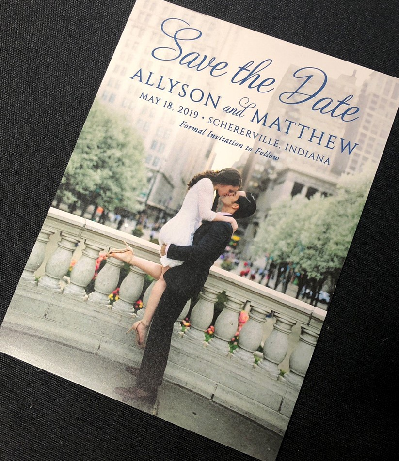 Single Photo Save the Date Allyson