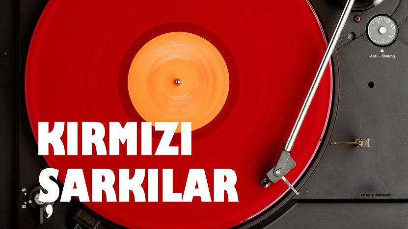 red vinyl record - kırmızı plak