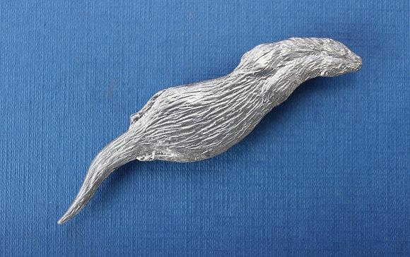 Otter brooch