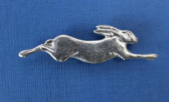 Medium running hare brooch