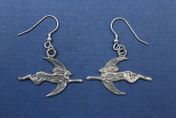 Hare and moon earings.
