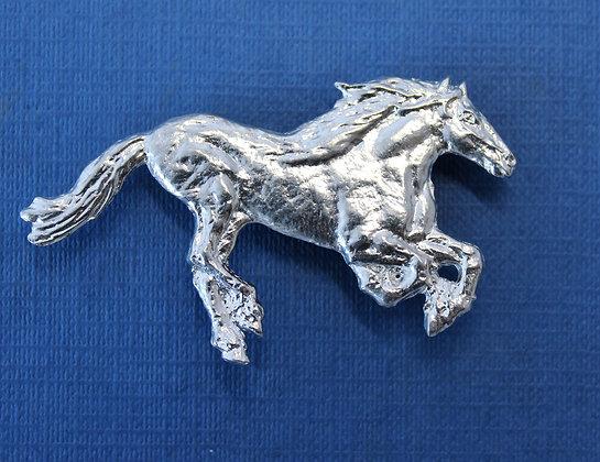 Horse running brooch