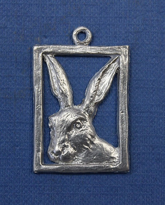 Hare portrait pendant