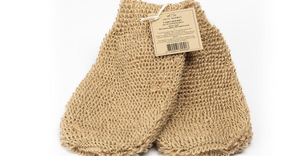 Paire de gants en chanvre