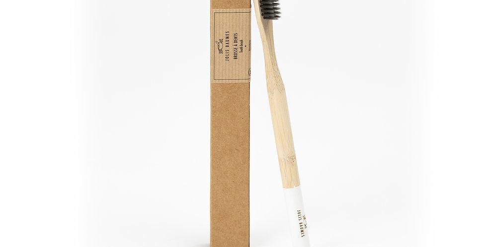 Brosse à dents Adulte Blanche Médium en Bambou