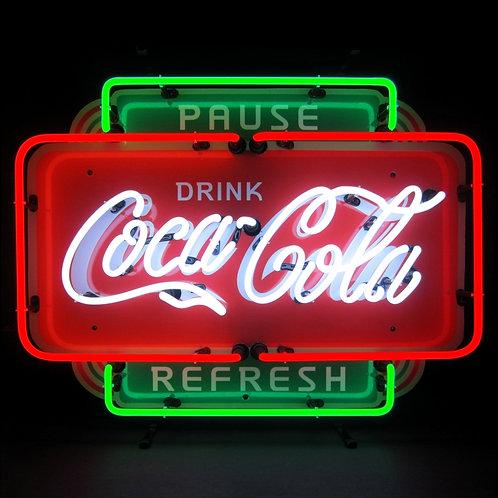COCA COLA PAUSE REFRESH NEON SIGN