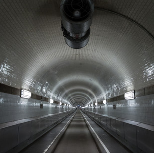 Hambourg - Tunnel sous l'Elbe