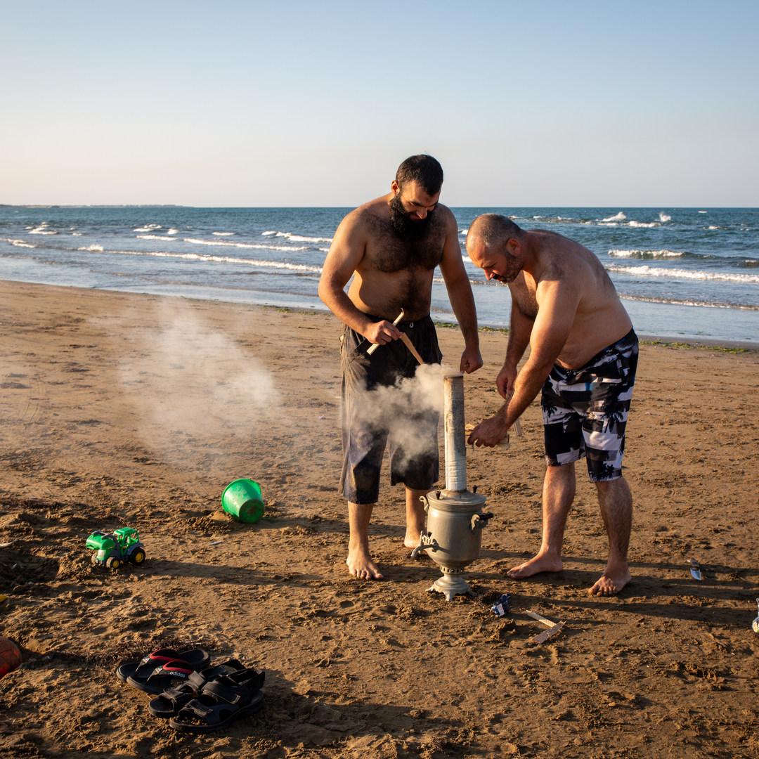 Thé du soir au bord de la Caspienne