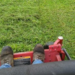 Mowing after rain