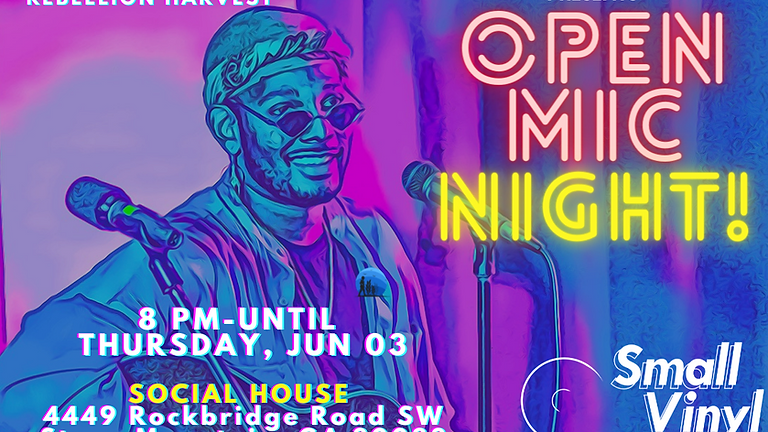 Open Mic Night Presented By Welcome To The Wall June 3rd, 2021