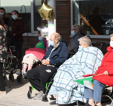 Residents enjoy an outdoor special event!