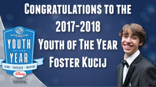 Foster Kucij Named 2017-2018 Youth of the Year