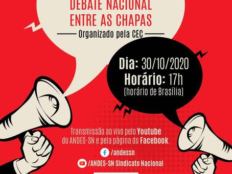 Eleição ANDES-SN: debate hoje e orientações para o voto.