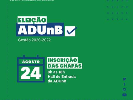 Eleição ADUnB: Inscrição de chapas