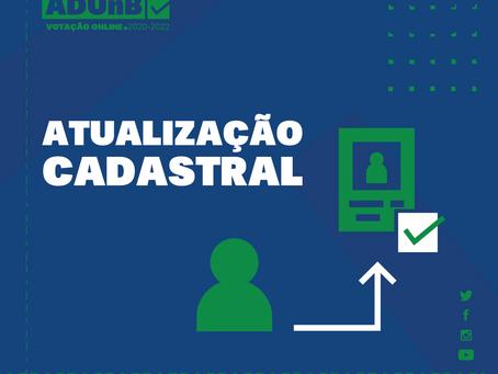 Eleição ADUnB: atualização cadastral para o voto