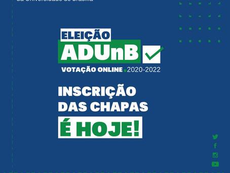 Eleição ADUnB: inscrições de chapas