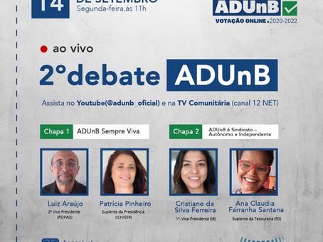 2° Debate da Eleição ADUnB 2020-2022