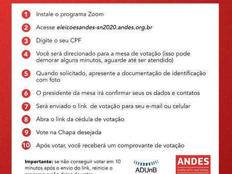 Eleição ANDES | passo-a-passo do voto