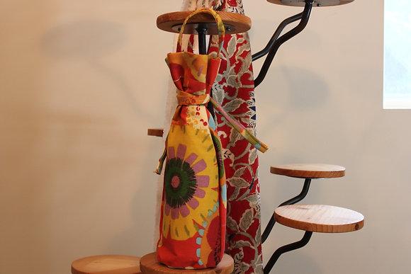 Flower themed Wine bag