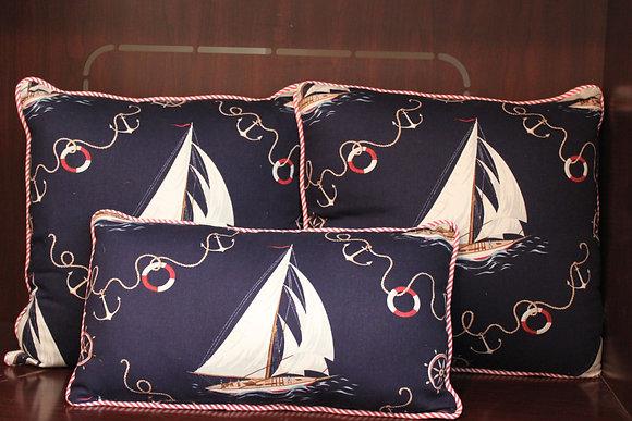 Sailboat pillow set