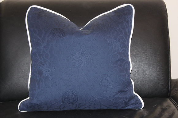 Sea shell themed down pillow