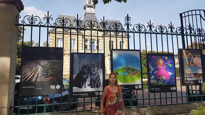 panneau mairie Vesinet jardin interieur