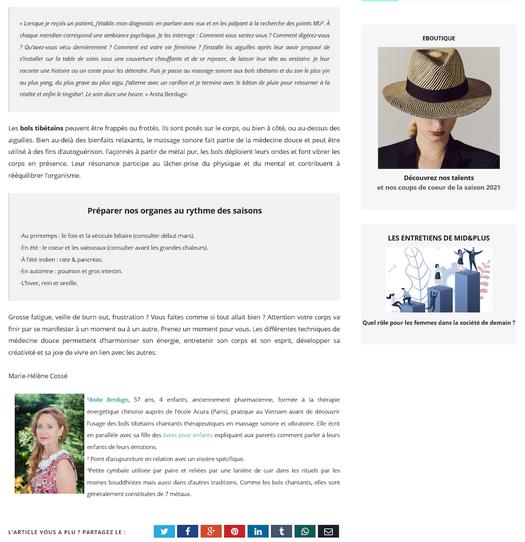 Acupuncture et sonothérapie, boosters d'énergie - Mid&Plus page2