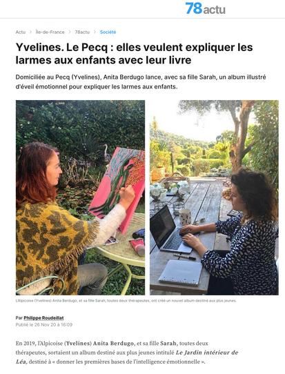 courrier des Yvelines -Pourquoi tu pleures