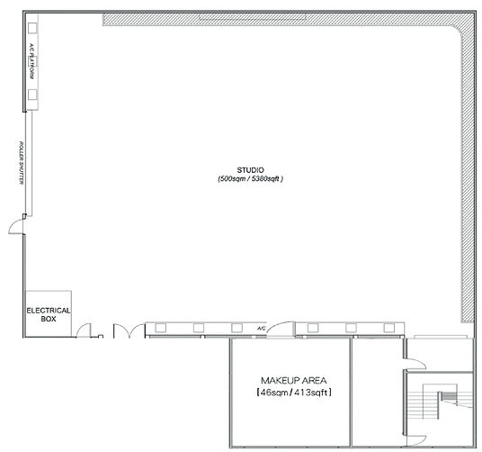 Take A Shot Filming Studio floorplan
