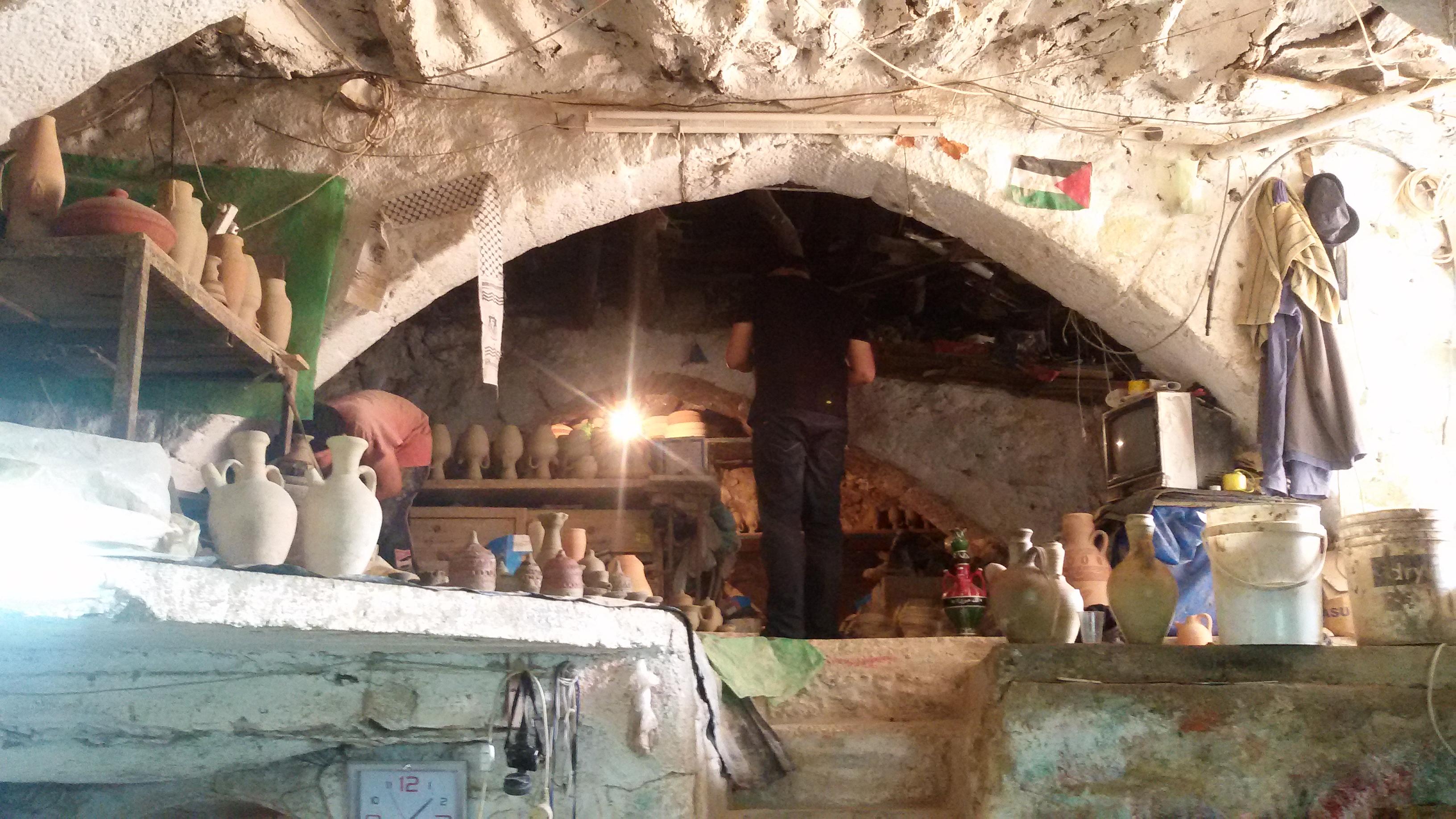 החלק העליון של המערה משמש לאיכסון