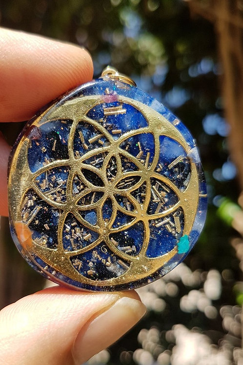 זרע החיים כחול באבני הקשת
