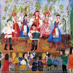 Праздничный концерт в городском саду