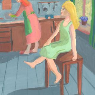 11 лет Анна Ухина Орёл Болтая ногами на кухне.jpg