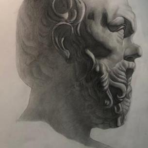 Гипсовая голова (Сократ)