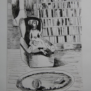 10 лет Елизавета Арсенова Москва Сара в библиотеке.jpg