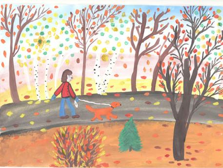 «Осенняя прогулка с другом»