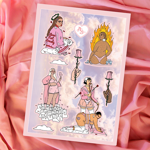 Heaven Sent - A5 Sticker Sheet
