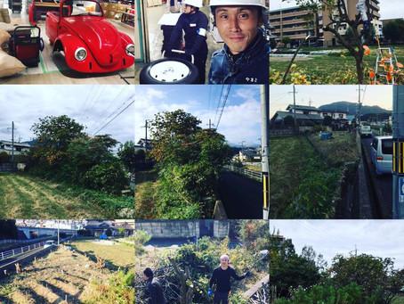 奈良 草刈り 荷物移動