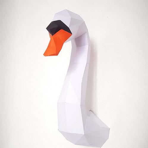Trophée origami Cygne - Kit DIY papier