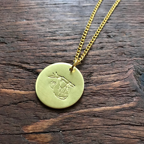 Personalised Brass Animal Necklace