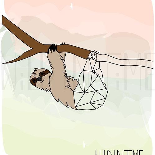 Sloth DIGITAL Print Download